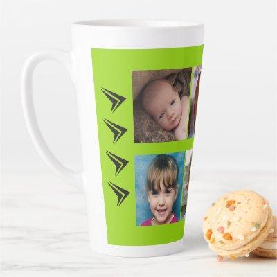 Lime black love being a Grandad with photos Latte Mug