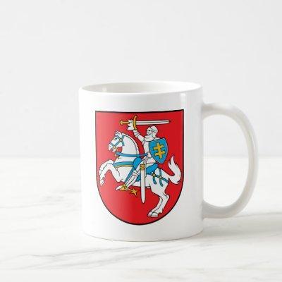 lithuania emblem coffee mug