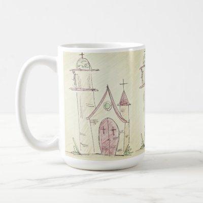 Little church - coffee mug
