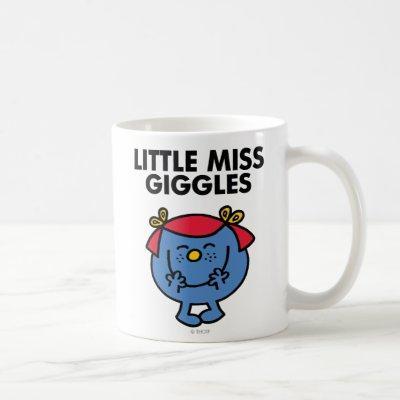 Little Miss Giggles   Black Lettering Coffee Mug