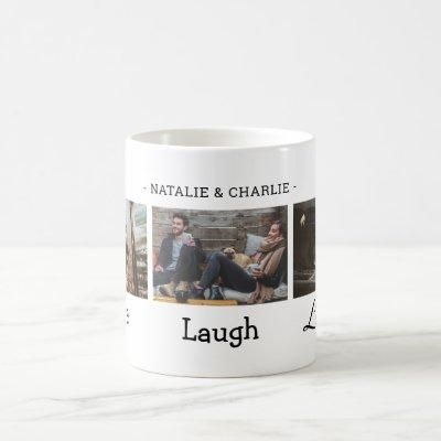 Live Laugh Love Photo Collage Coffee Mug