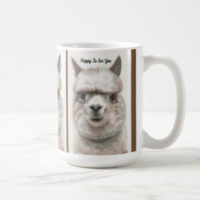 Llama Smile Personalize Large Coffee Mug