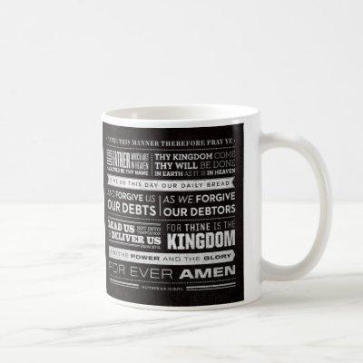 Lord's Prayer words mug