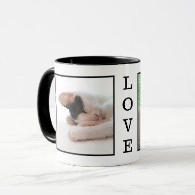 LOVE Custom Pet Photo Family Pictures Personalized Mug