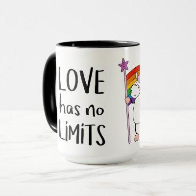 Love Has No Limits Unicorn Mug