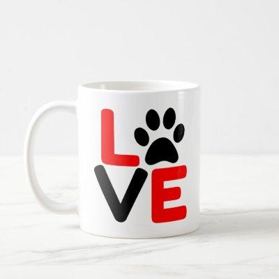 LOVE PAW COFFEE MUG