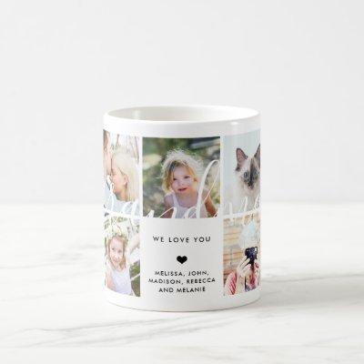 Love You Grandma | Photo Gift Calligraphy Text Coffee Mug
