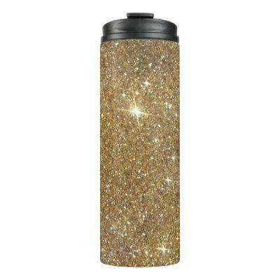 Luxury Gold Glitter - Printed Image Thermal Tumbler