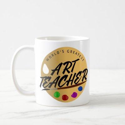 Luxury Teacher Mug World's Greatest Art Teacher