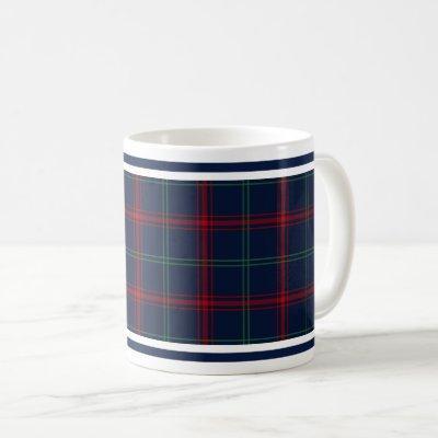 Lynch Tartan Pattern Navy Blue Irish Plaid Coffee Mug