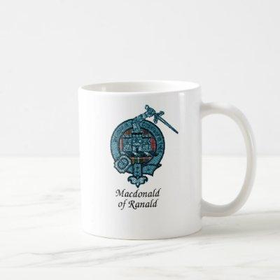 Macdonald Of Ranald Clan Crest Coffee Mug