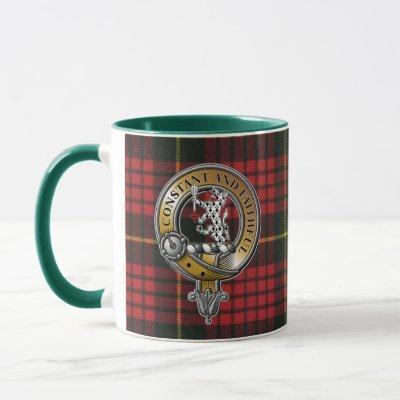MacQueen Tartan & Badge Mug