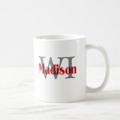 madison wi red coffee mug