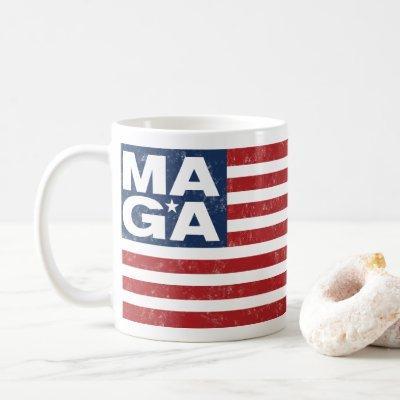 MAGA American Flag Coffee Mug