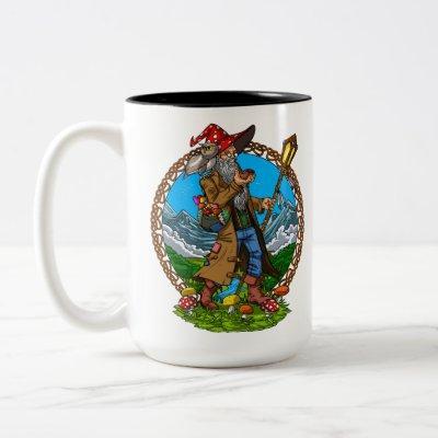 Magic Mushrooms Wizard Two-Tone Coffee Mug