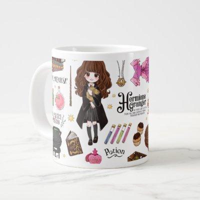 Magical Hermione Granger Watercolor Giant Coffee Mug