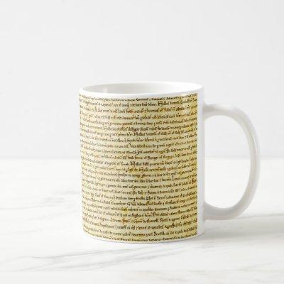 Magna Carta text Coffee Mug