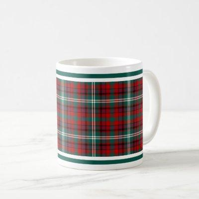 Maguire Tartan Pattern Red Plaid Coffee Mug