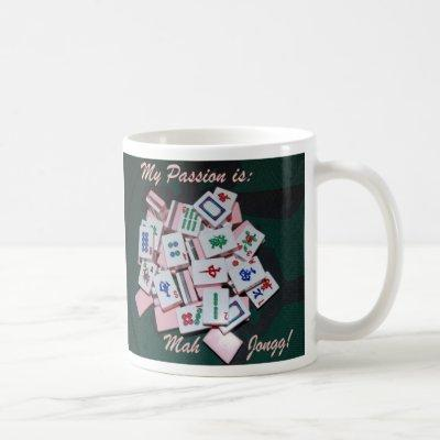 mah jongg mug- script - Customized Coffee Mug