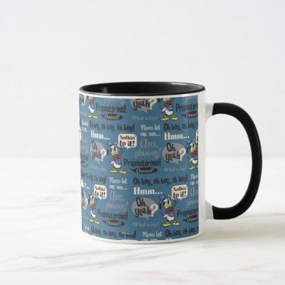 Main Mickey Shorts | Donald Duck Blue Pattern Mug