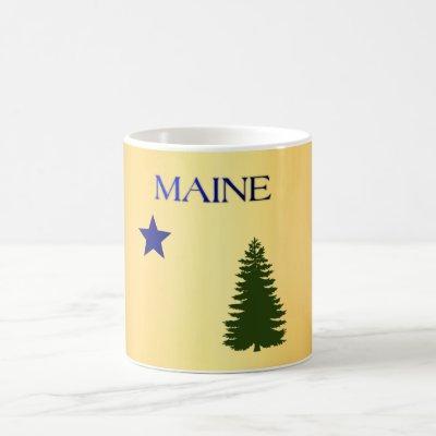 Maine (1901) flag coffee mug