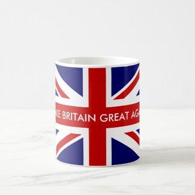 MAKE BRITAIN GREAT AGAIN Union Jack flag mug