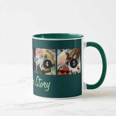 Make Your Own Tell Your Photo Story 5 images Teal Mug