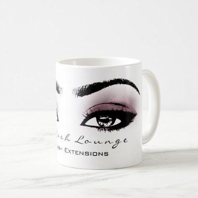 Makeup Artist Eyelash Extension Aubergine Eye Coffee Mug