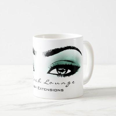 Makeup Artist Eyelash Extension Studio Emerald Eye Coffee Mug