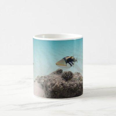 Maldives White Sand Lagoon Coral Fish Souvenir Coffee Mug