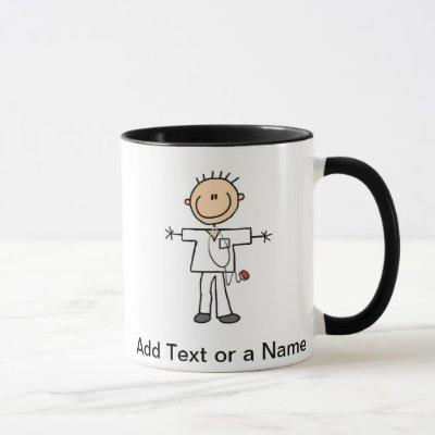 Male Stick Figure Nurse T-shirts and Gifts Mug
