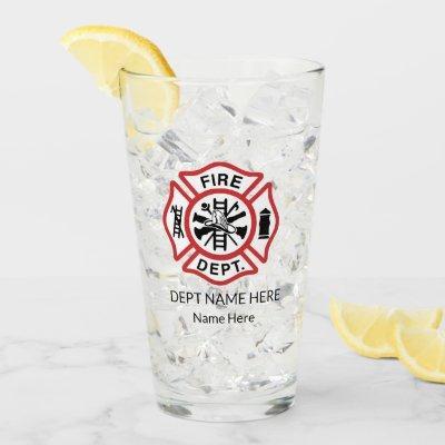 """""""Maltese Cross Firefighter Glass"""