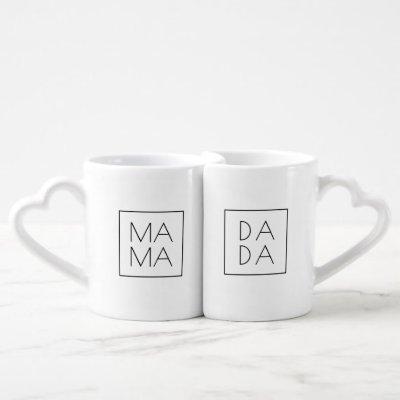 Mama and Dada Coffee Mug Set