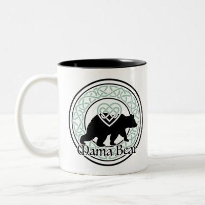 Mama Bear Celtic Circle of Love and Strength Two-Tone Coffee Mug