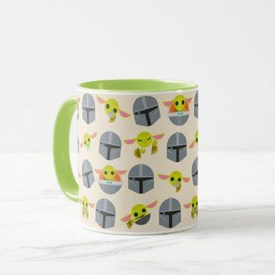 Mandalorian and The Child Cute Expression Pattern Mug