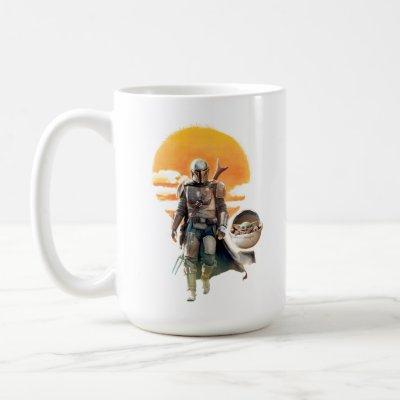 Mando and The Child | Sunset Walk Coffee Mug