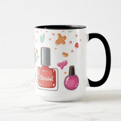 Manicurist nail polish artist beauty salon coffee mug
