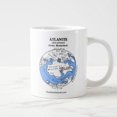 Map of Atlantis - Both Hemispheres - Jumbo Mug