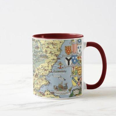 Map of Historical Scotland Mug