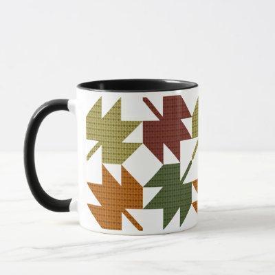 Maple Leaf Quilt Pattern Design 1 Mug