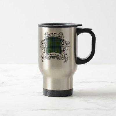 Marshall Tartan Shield Travel Mug