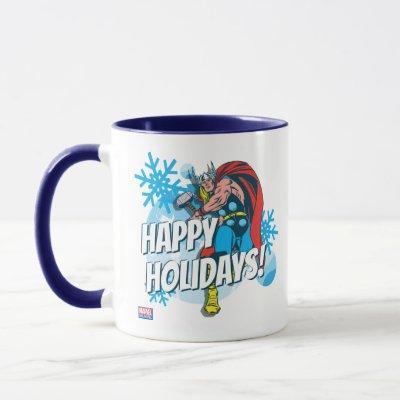 Marvel Classics   Thor Snowflake Graphic Mug