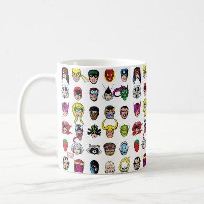Marvel Comic Characters Pattern Coffee Mug