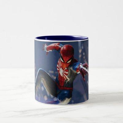 Marvel's Spider-Man | Web Shooting Through city Two-Tone Coffee Mug