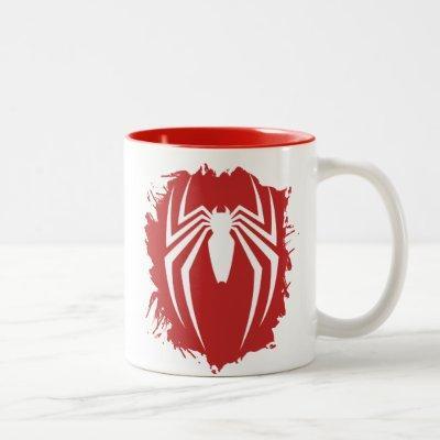 Marvel's Spider-Man | White Spider Emblem Two-Tone Coffee Mug