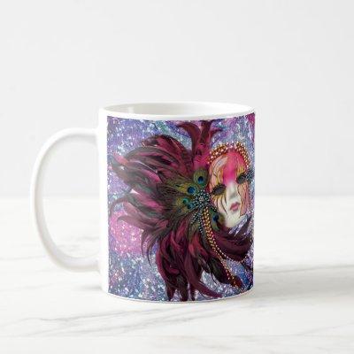 Masquerade Ball Mask Theatre Drama Art Mardi Gras Coffee Mug