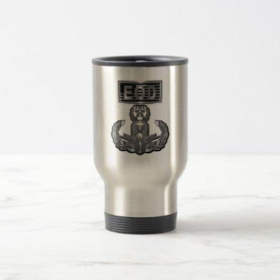 """""""Master Blaster"""" EOD Steel Type Design Travel Mug"""