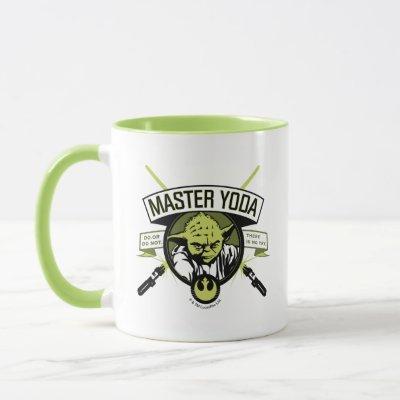 Master Yoda Lightsaber Badge Mug
