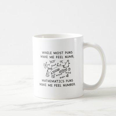 Mathematics Puns Coffee Mug