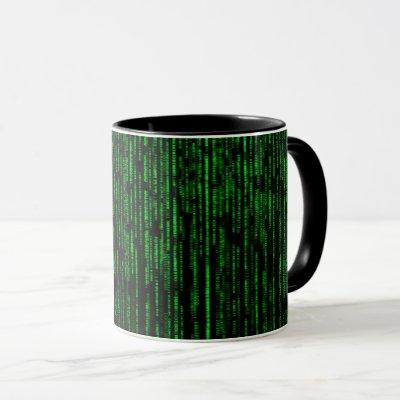 Matrix background mug